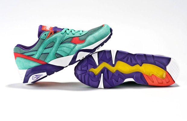 Classic Kicks NYC x Puma R698 Seafoam/Purple/Infrared