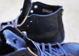 Schott NYC x Converse Chuck Taylor All Star Leather Navy