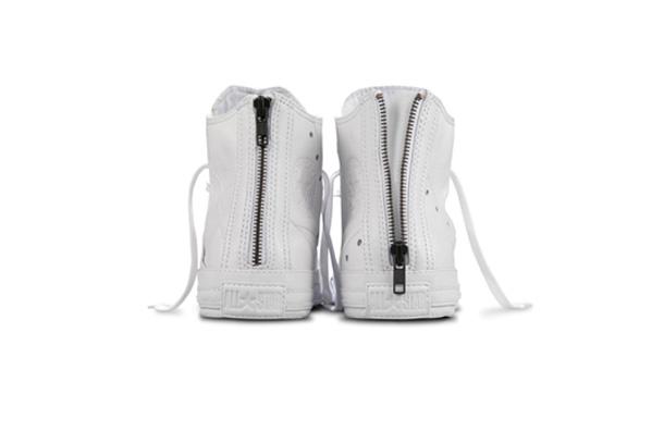 Schott NYC x Converse Chuck Taylor Hi Leather Jacket Blanc