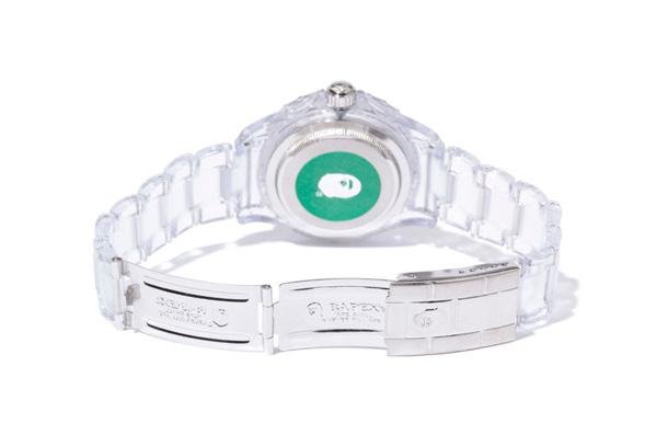 BAPE BABY MILO CLEAR BAPEX wristwatch