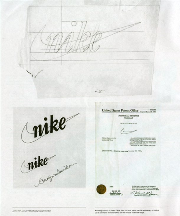 40 ans Nike Swoosh - Carolyn Davidson