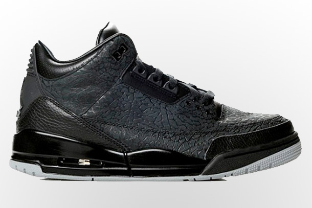 Air Jordan 3 Retro Black Flip