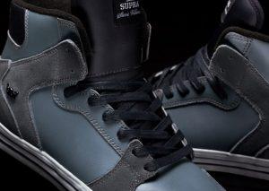 Stevie Williams x Supra Vaider - Grey leather dark grey suede