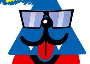 Chat triangulaire Cool Cats x SUPER Sunglasses