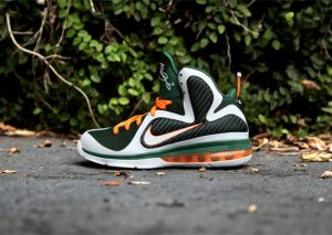 Nike Lebron 9 Miami Hurricanes Vert/Orange
