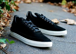 Filling Pieces Low Top's Black Suede