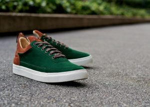 Filling Pieces Low Top's Green Suede