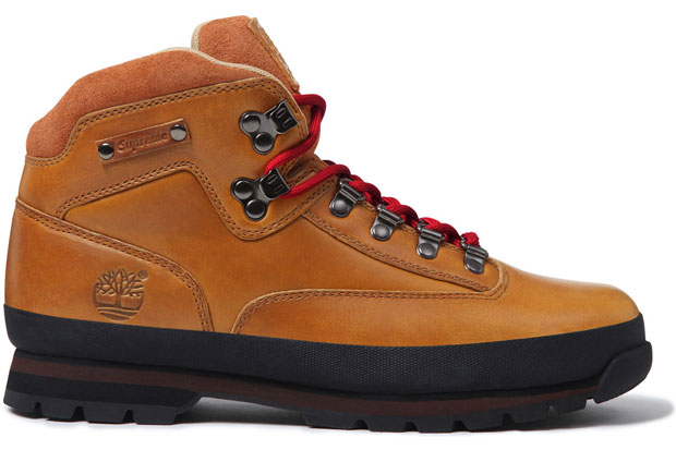 Supreme x Timberland Euro Hiker Boot Marron/Rouge