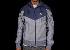 Nike Ru Chambray Superrunner Jacket Blue