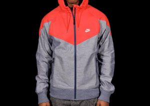 Nike Ru Chambray Superrunner Jacket Red