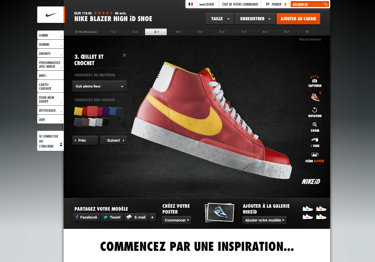 Personnalisation Nike Blazer Mid Nike iD
