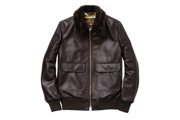 Schott NYC x Supreme Leather Flight Jacket (Alexandre Hoang)