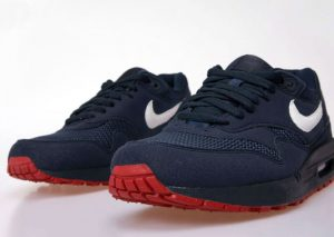 Nike Air Max 1 Obsidian/White/University Red (Alexandre Hoang)