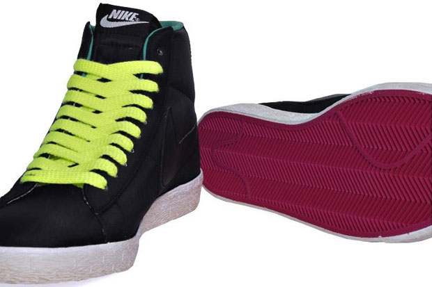 Nike Blazer Mid Nylon Black/Volt/New Green (Alexandre Hoang)