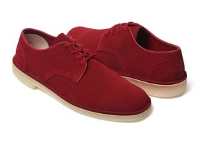 Supreme x Clarks Desert Mali Low Rouge (Alexandre Hoang)