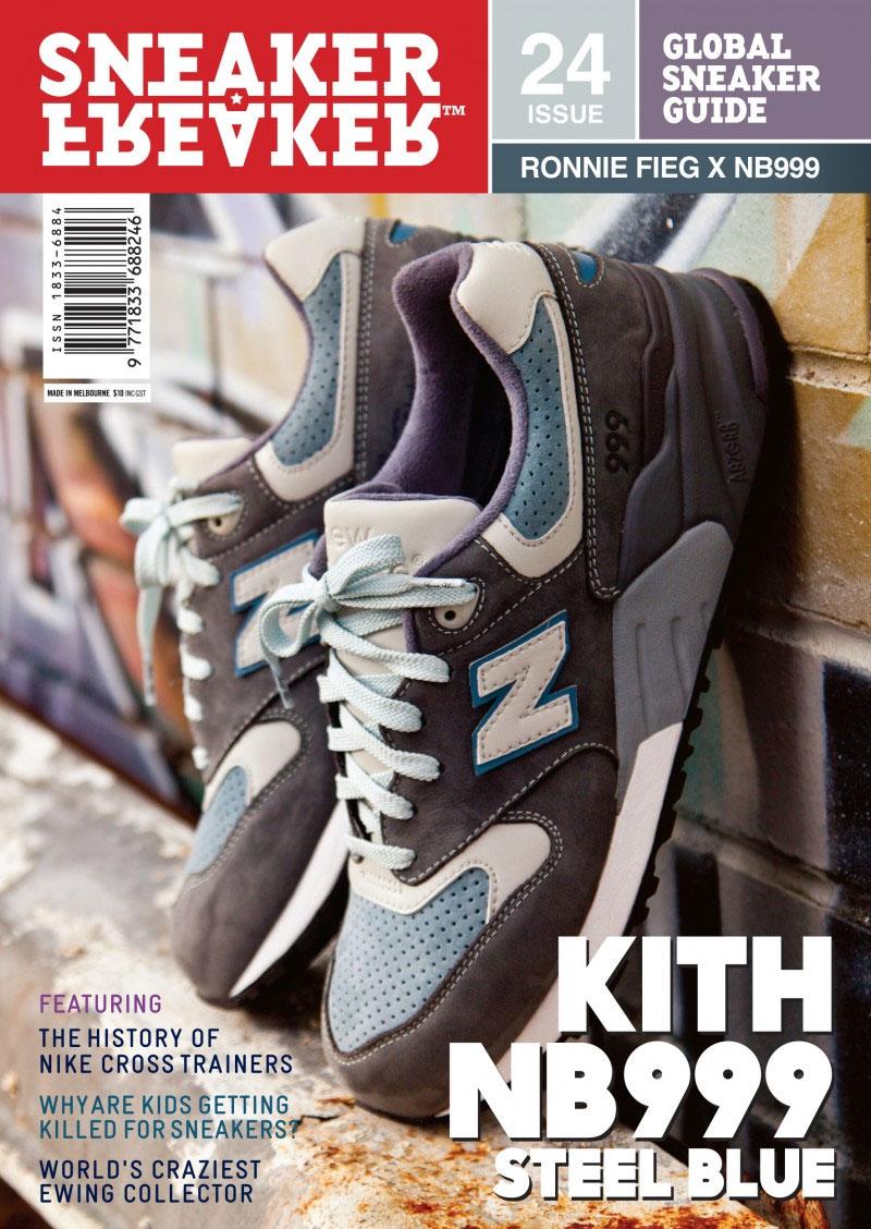 Kith x New Balance 999 Steel Blue x Sneaker Freaker Magazine