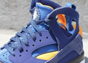 Nike Air Huarache BBall 2012 (Loyal Blue/Vivid Orange)-2