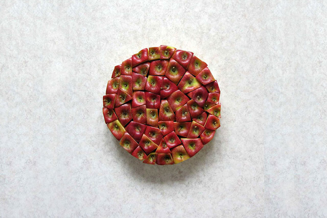 Geometric Food Art by Sakir Gokcebag Apple