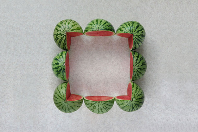 Geometric Food Art by Sakir Gokcebag Watermelon