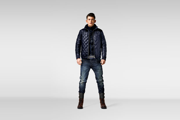 G-STAR RAW Winter 2014 Correct Quilted Overshirt Slim Tailor 3D Jkt Chevron LS