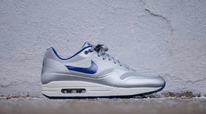 Nike Air Max 1 Hyperfuse QS Night Track (Metallic Silver/Deep Blue)-2