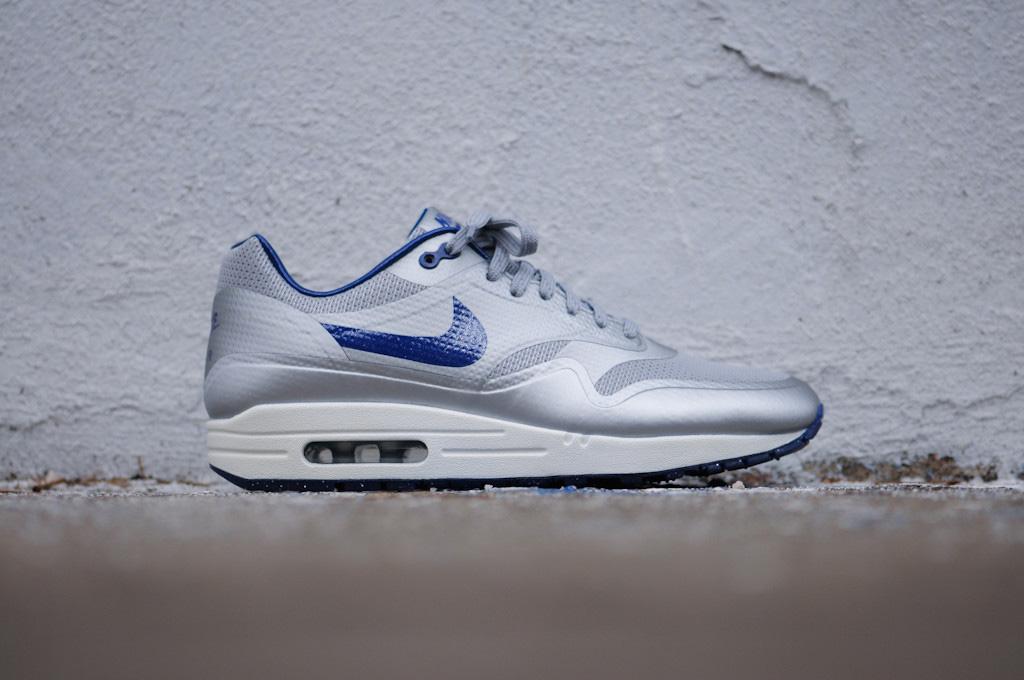 innovative design a37e7 17492 Nike Air Max 1 Hyperfuse QS Night Track (Metallic Silver Deep Blue)- ...