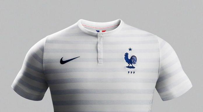 Nouveau Maillot Nike France Football Exterieur Coupe du Monde Brasil 2014