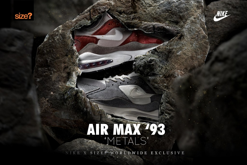 Nike Air Max 93 'Metals' – size? Red Rouge
