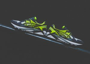 Asics Gel Kayano Trainer (White/Grey/Volt) 2014