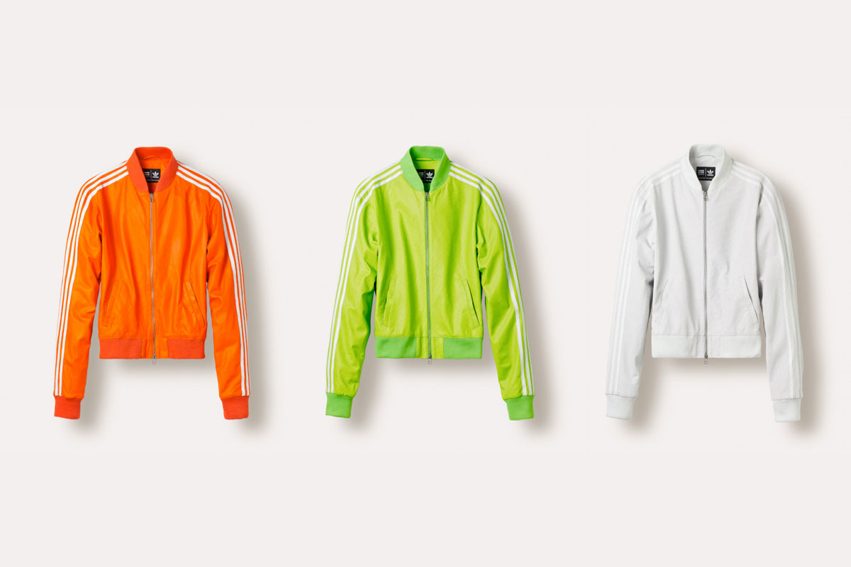 Vestes en cuir Superstar Track Jacket Adidas = Pharrell Williams
