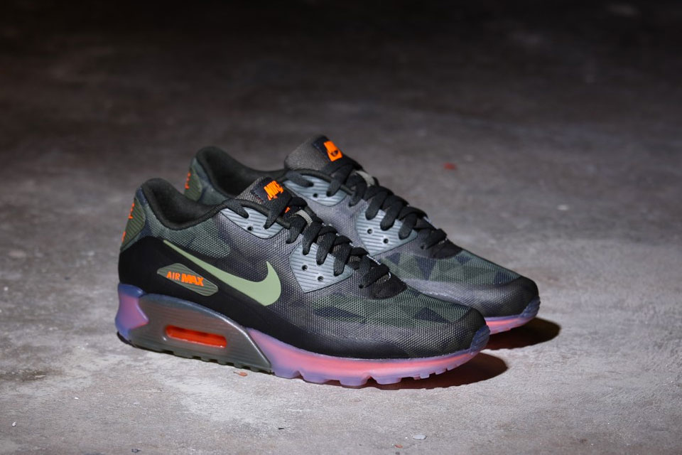 sneakers for cheap 204c4 be0ad ... GREENDEEPEST GREENMEDIUM OLIVE Nike Air Max 90 Ice QS (Rough Green)  2014-2 .