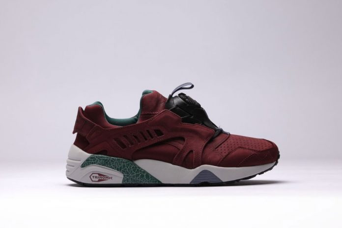 PUMA Trinomic Disc Blaze Crackle Burgundy