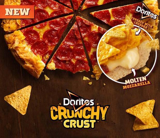 Pizza Hut Doritos Crunchy Crust - Fromage/Chips (Australie)