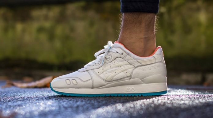 ASICS Gel Lyte III (Blanc/Orange/Turquoise)