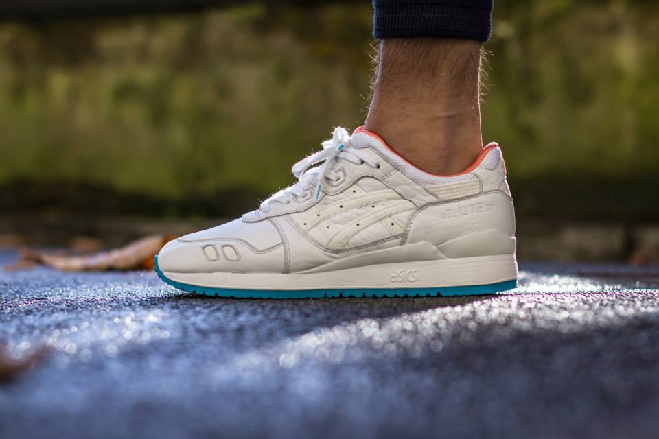 ... asics gel lyte iii (blanc orange turquoise)