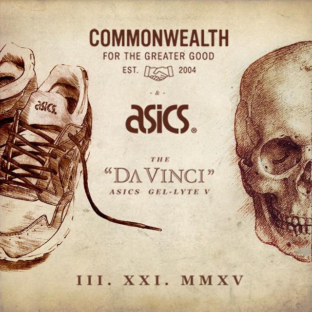 Commonwealth-x-ASICS-Gel-Lyte-V-Da-Vinci teaser
