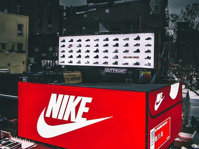 Nike Pop-up Box store Bowery & Great Jones St.