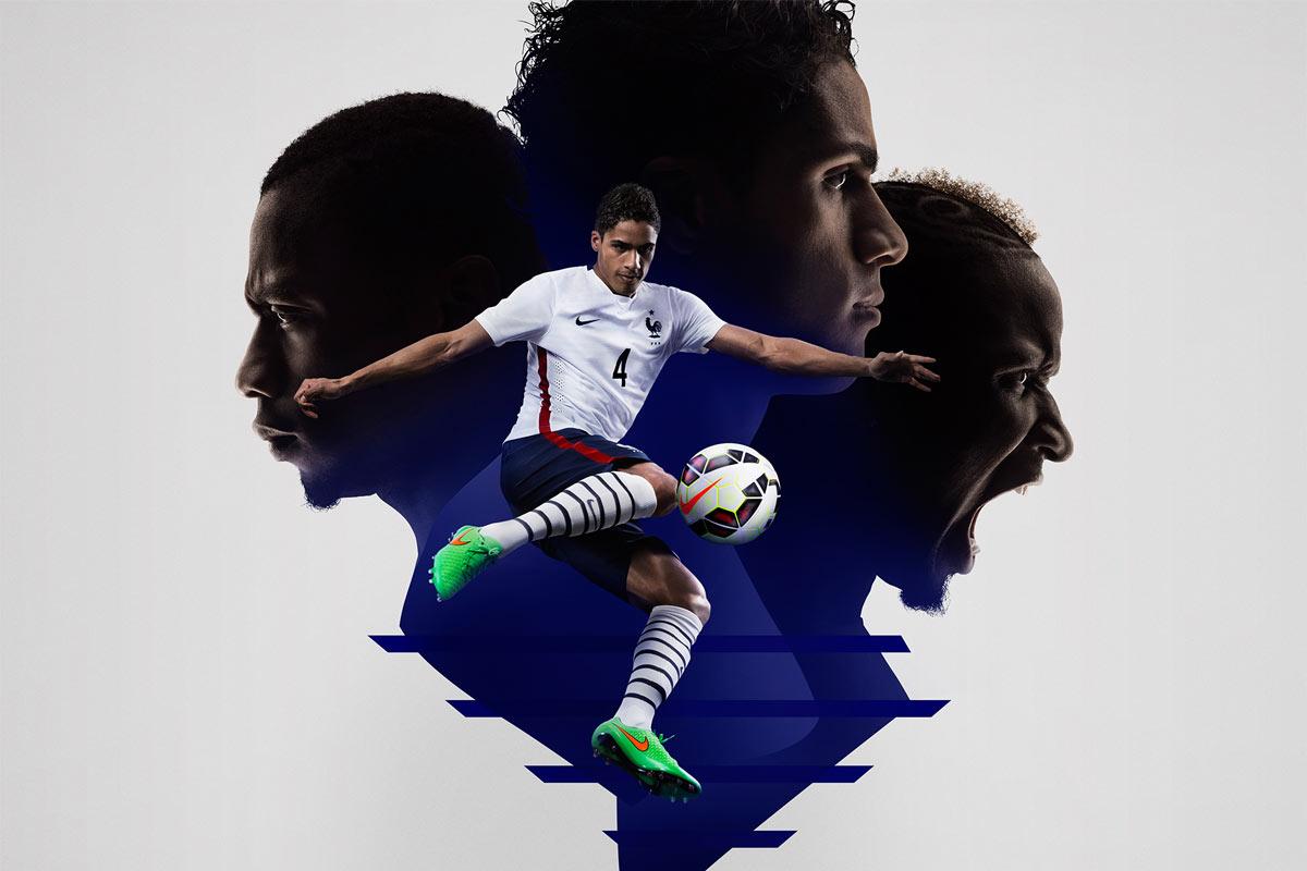 Maillot Extérieur Équipe de France de Football 2015/2016-3
