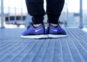 Nike Free Flyknit NSW 'Court Purple' (White-PolarizedBlue-Black)-1