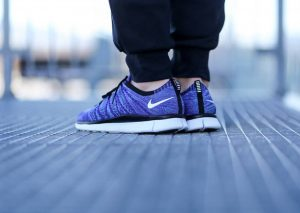 Nike Free Flyknit NSW 'Court Purple' (White-PolarizedBlue-Black)-2