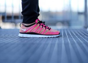 Nike Free Flyknit NSW (Pink Flash/White Volt)