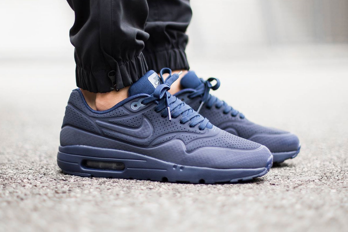 Nike Air Max 1 Ultra Moire Midnight Navy/Black 2015