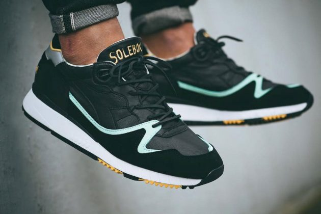 Solebox X Diadora V7000 (Black/Blue/Yellow)