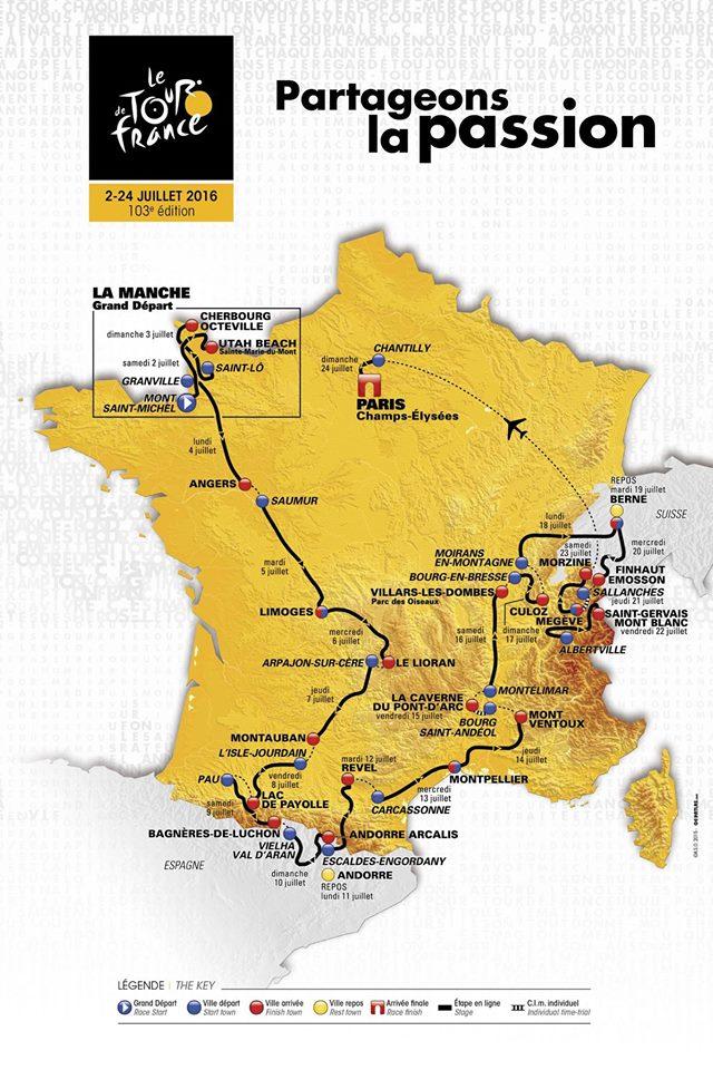 parcours tour de france 2016 saint michel