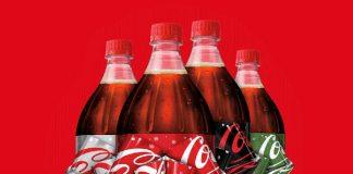 Bouteille Coca-Cola Noel avec noeuf magique