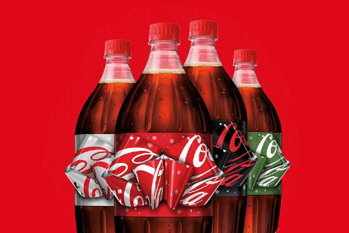 Bouteille Coca-Cola avec noeuf papillon magique