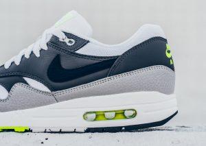 Nike Air Max 1 ESSENTIAL (White/Dark Grey/Volt)-2