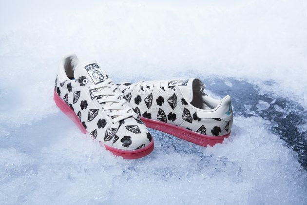 adidas Stan Smith x Pharrell BBC 'Pony Hair' Blanc/Rouge-