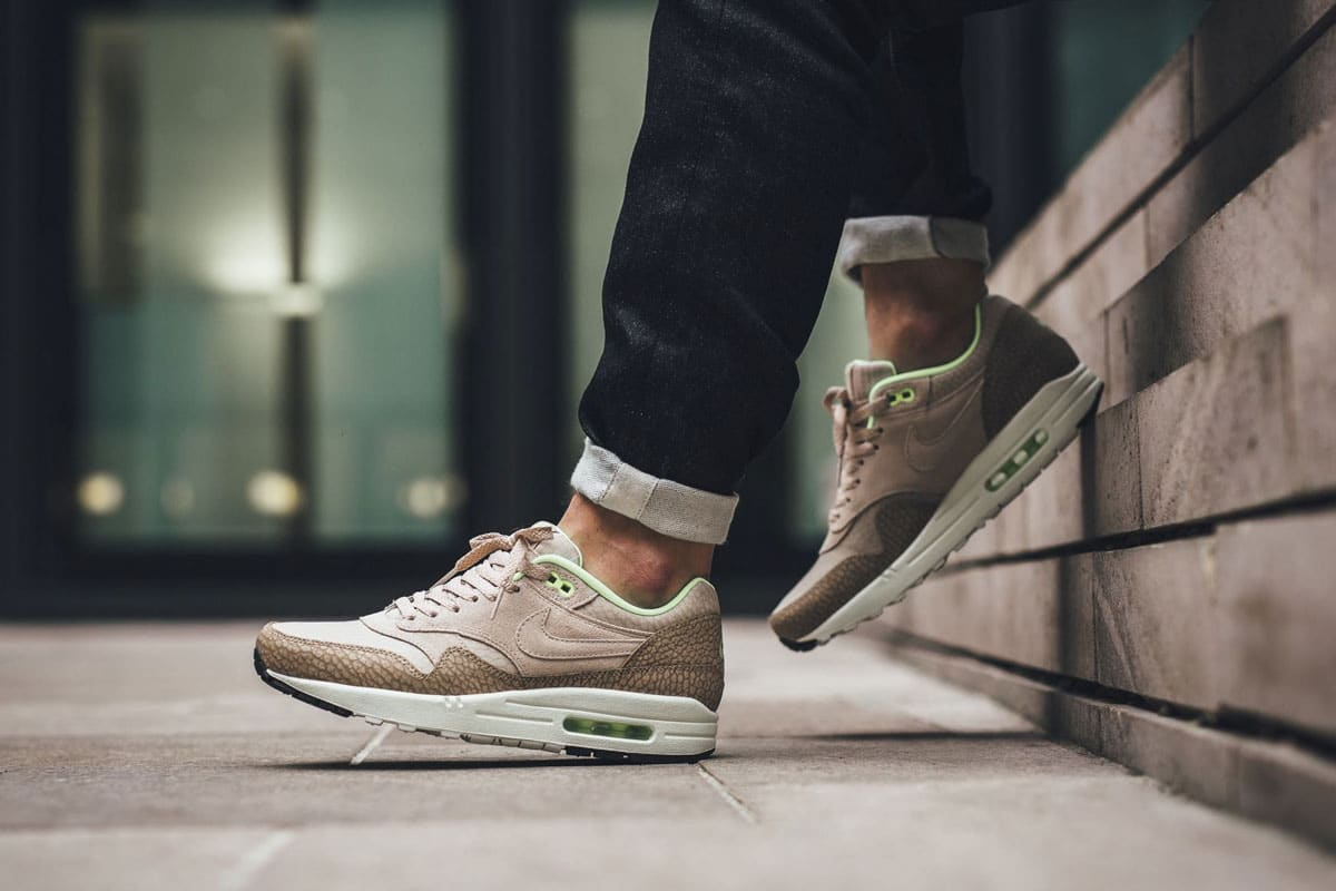 Nike Air Max 1 Premium (String Desert Camo Ghost Green) |