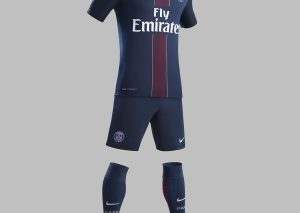 Maillot PSG Bleu Domicile 2016/2017-1